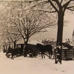 Snötransport med häst och släde