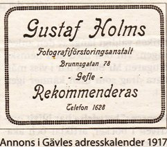 Gustaf Holms annons