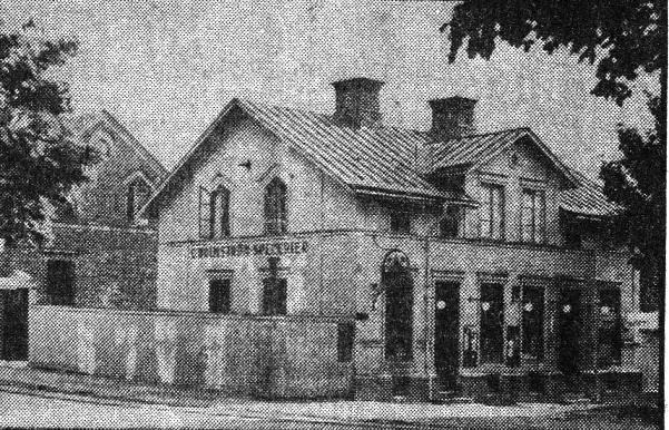 Holmströms butik 1937 före ombyggnaden