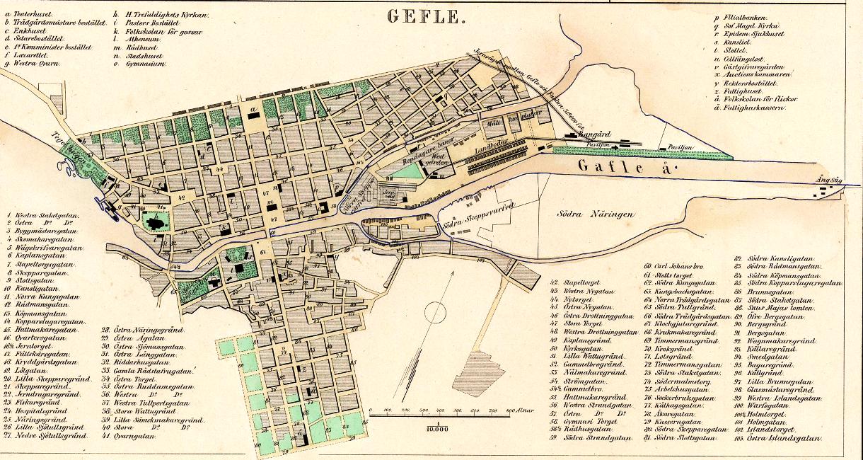 Karta från 1958