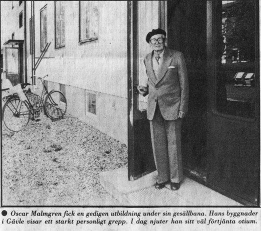 Oscar Malmgren - anonym byggherre