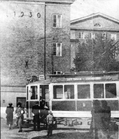 Spårvagnslinjen gick från Sjätte Tvärgatan till Stadsträdgården. Ettan vände vid Agöplan intill Mejselns barnrikehus.