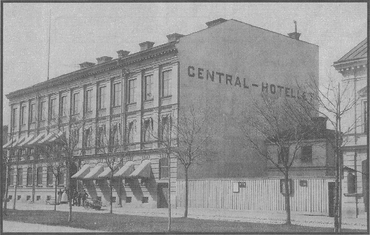 Grand Central Hotel i Gävle i slutet av 1800-talet.