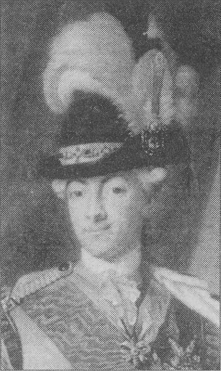 Gustav III på en målning av P Krafft