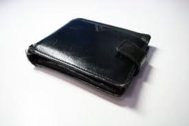 Sliten plånbok