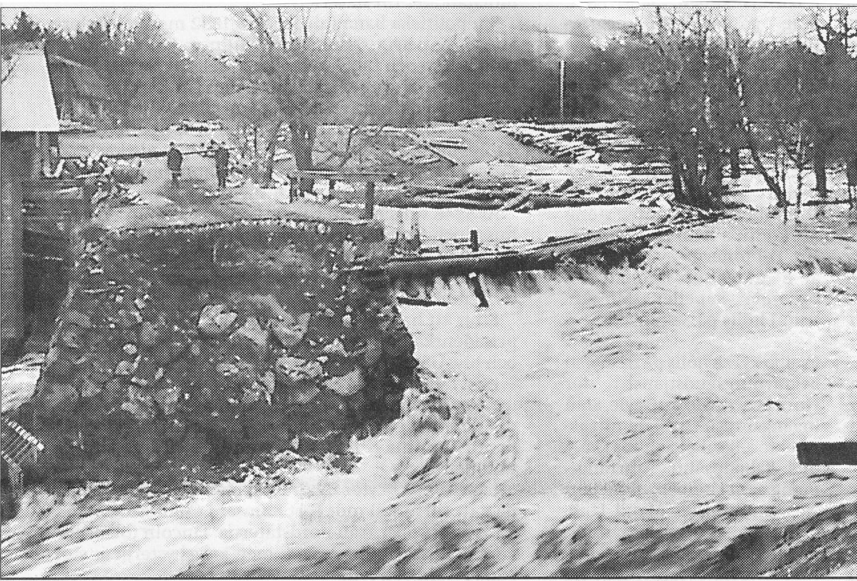 Bron borta över Gavleån 1916