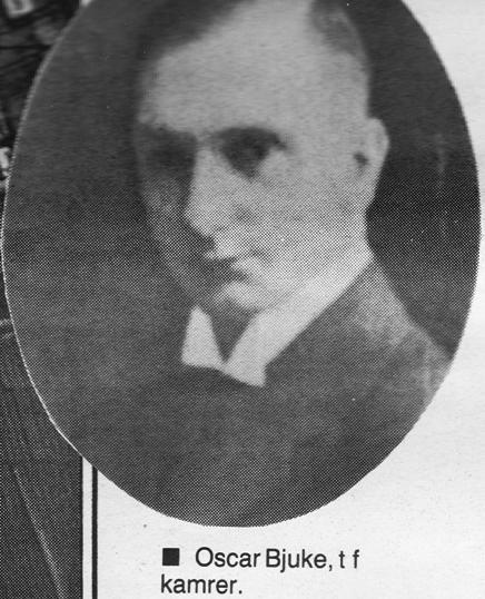Oscar Bjuke, t.f. kamrer