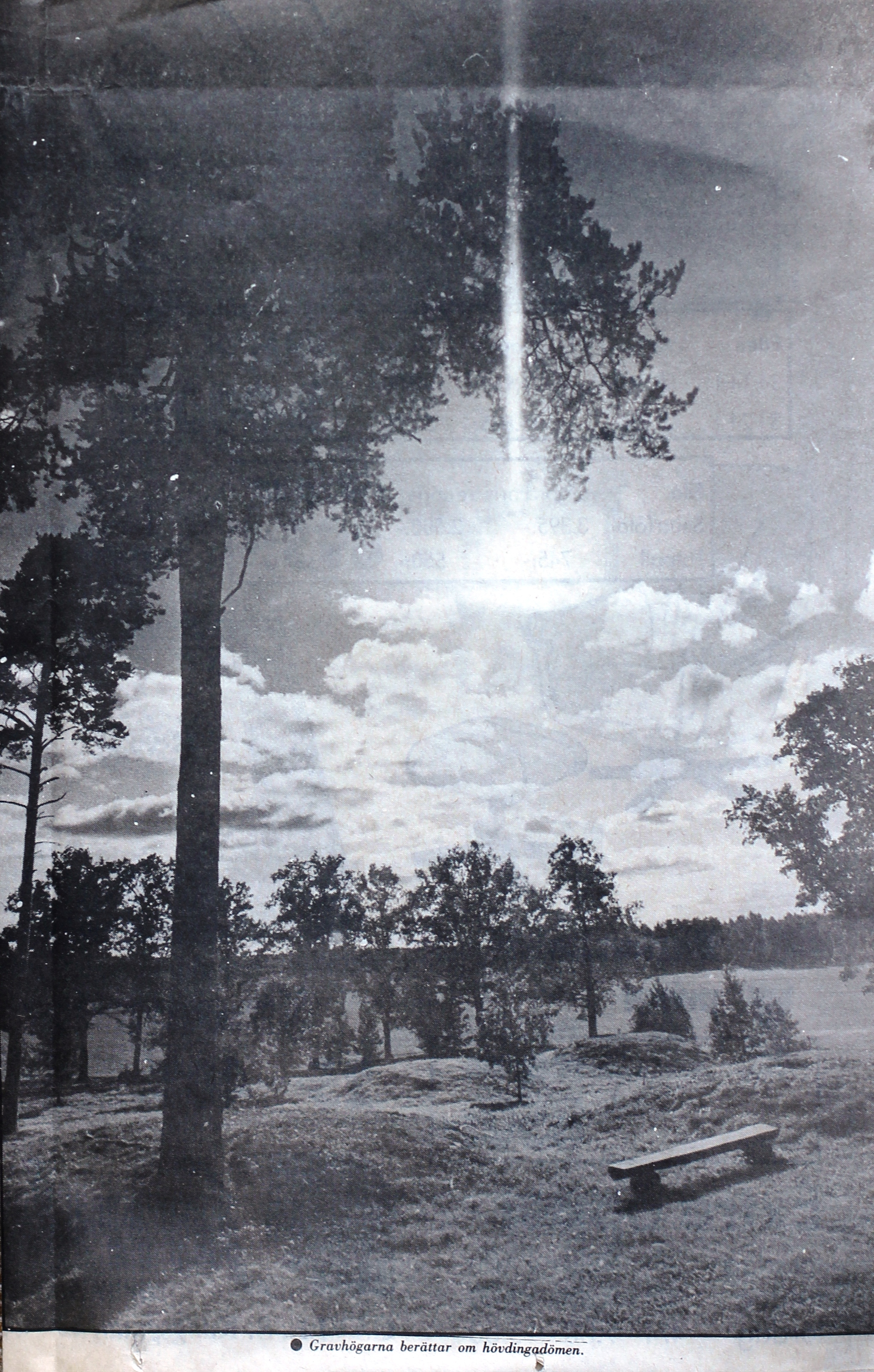 Gravhögarna vid Åby gård på Valboslätten.