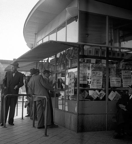 Tidningskiosken tillhörande busstation