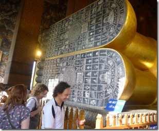 Bangkok vid Buddhas fotsulor av parlemor