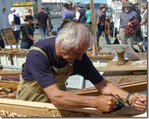 Hobart. John Young planing an oar