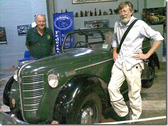 Maffra, with Peter Quennell and his Opel Olympia cabriolet 1937