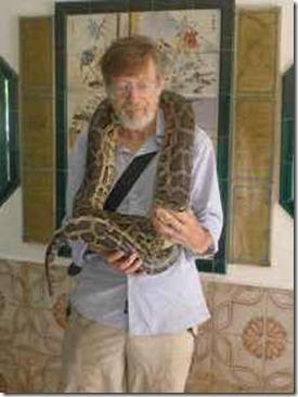 Penang, med pyton i Snake Temple
