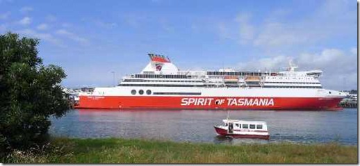 Spirit of Tasmania, my boat Devonport to Melbourne