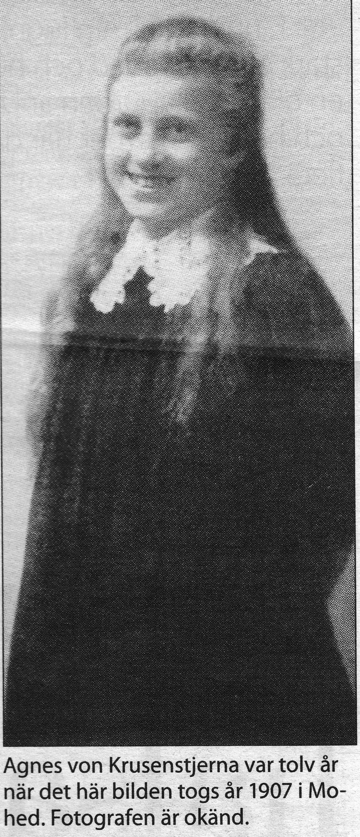 12-åriga Agnes von Krusenstjerna som skrev Dagbok