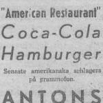 Antons vinrestaurant på 1940-talet på Norra Kungsgatan 3
