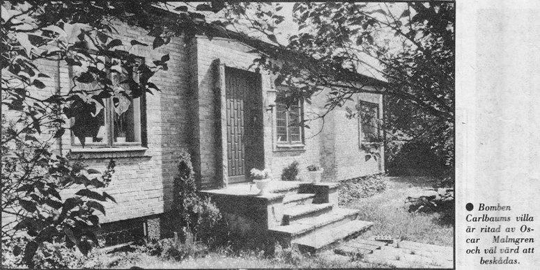 Bomben Carlbaums villa