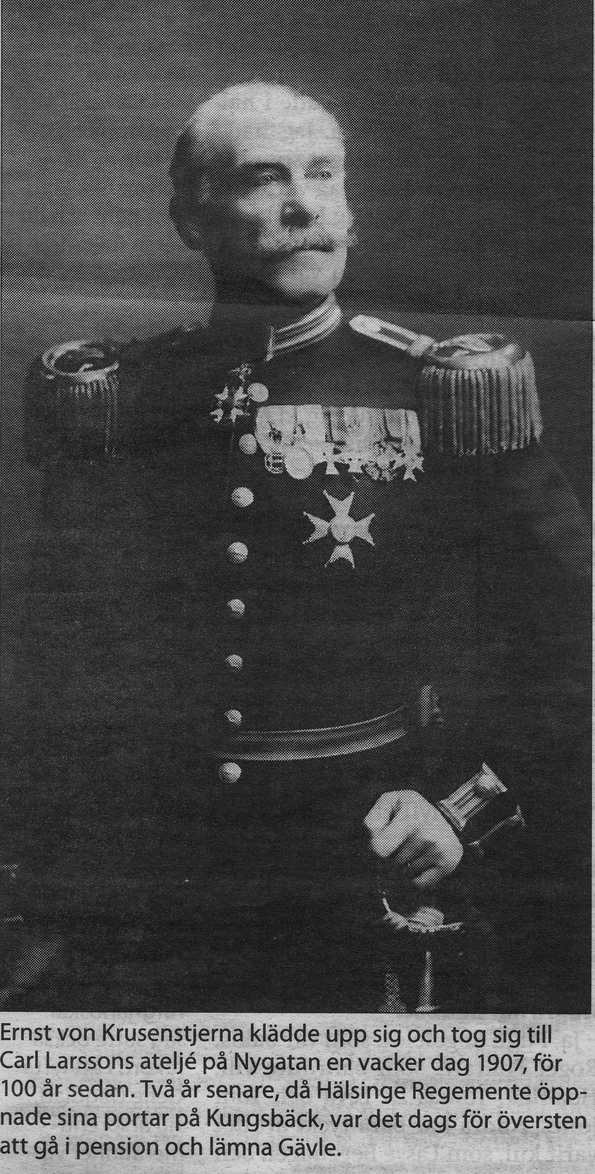 Överste Ernst von Krusenstjerna år 1907