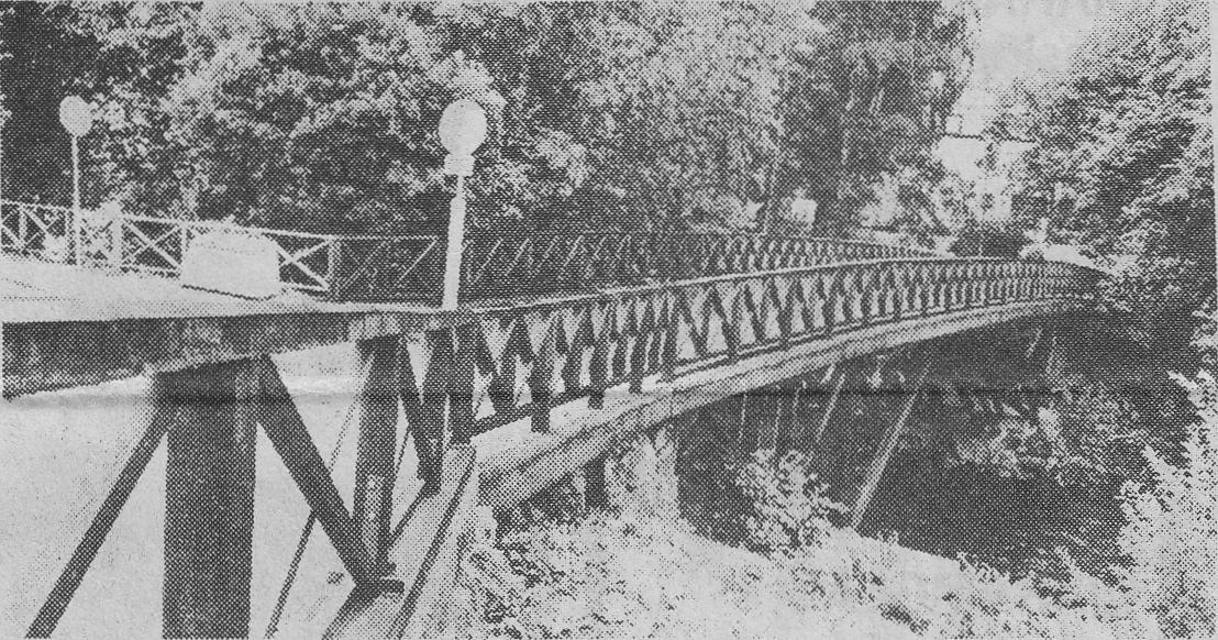 Gävles äldsta bro-Gammelbron-som under flera hundra år förbundit den norra stadsdelen med den södra