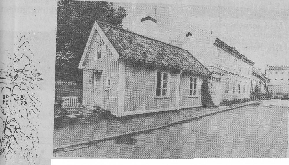 Det andra huset Trapp finns kvar med en gavel mot ån som lutar.