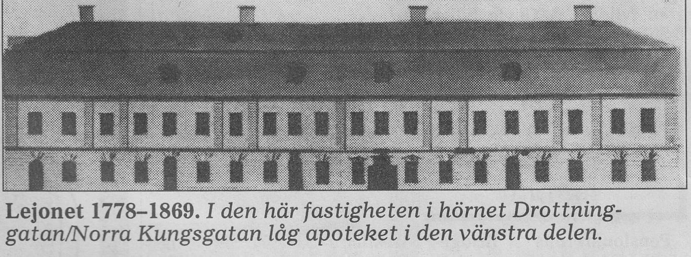 Lejonet 1778-1869 Drottninggatan Norra Kungsgatan