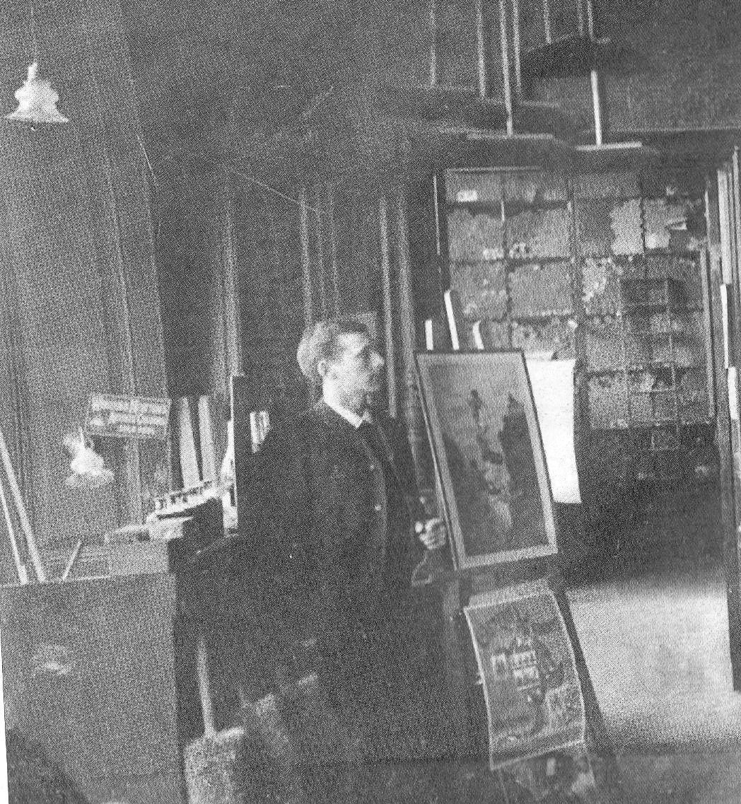 O A Johansson & Co, butiksinteriör i Gevaliapalatset från tidigt 1890-tal