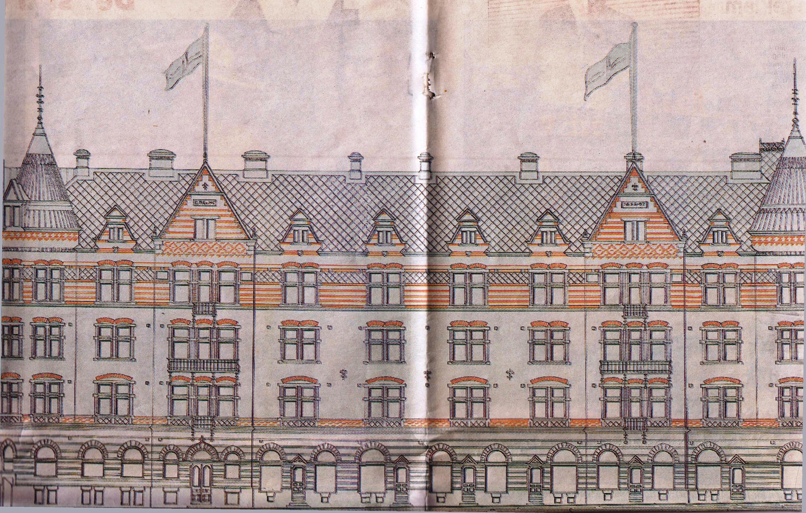 Dalapalatset i Gefle byggdes 1896-1899