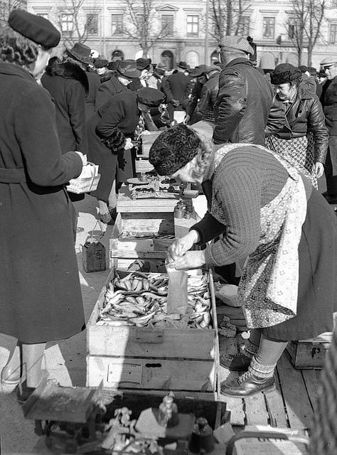 Fiskstånd på Stortorget