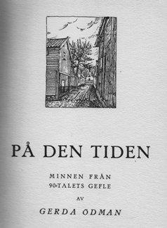 Gerda Ödman - På den tiden