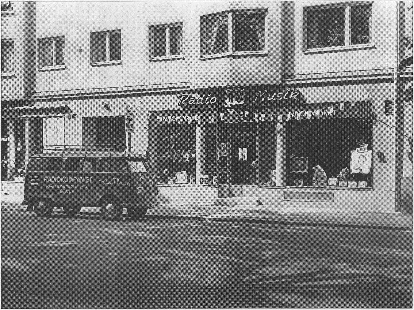 Radiokompaniet, Norra Kungsgatan 21, Gävle, sommaren 1958