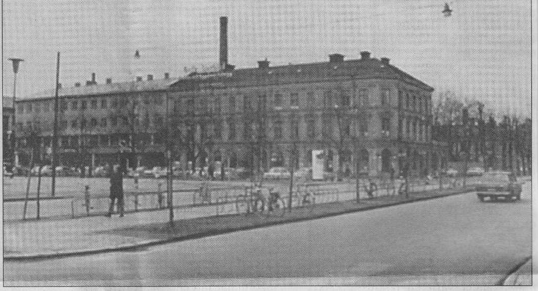 Tillsynings- och undersökningsbyrå 1889 på Norra Skeppargatan. Sedan kom Domus-varuhuset.
