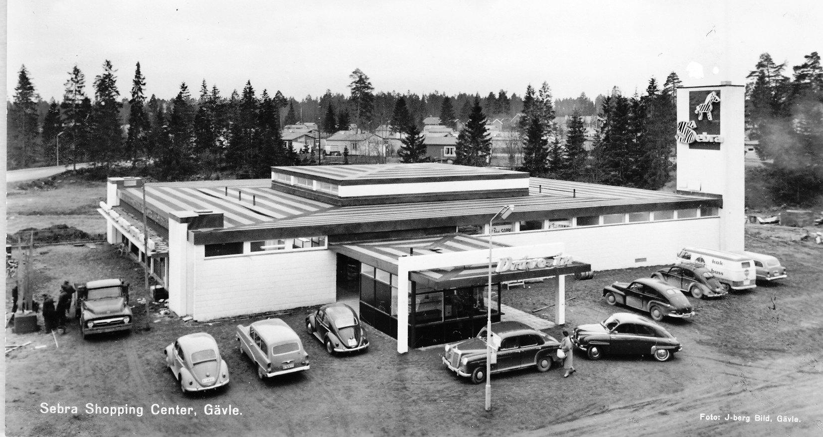 Sebra shopping i Gävle på 60-talet