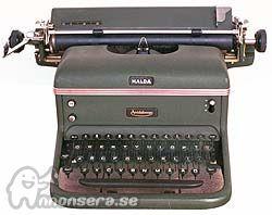 Skrivmaskin modell Halda