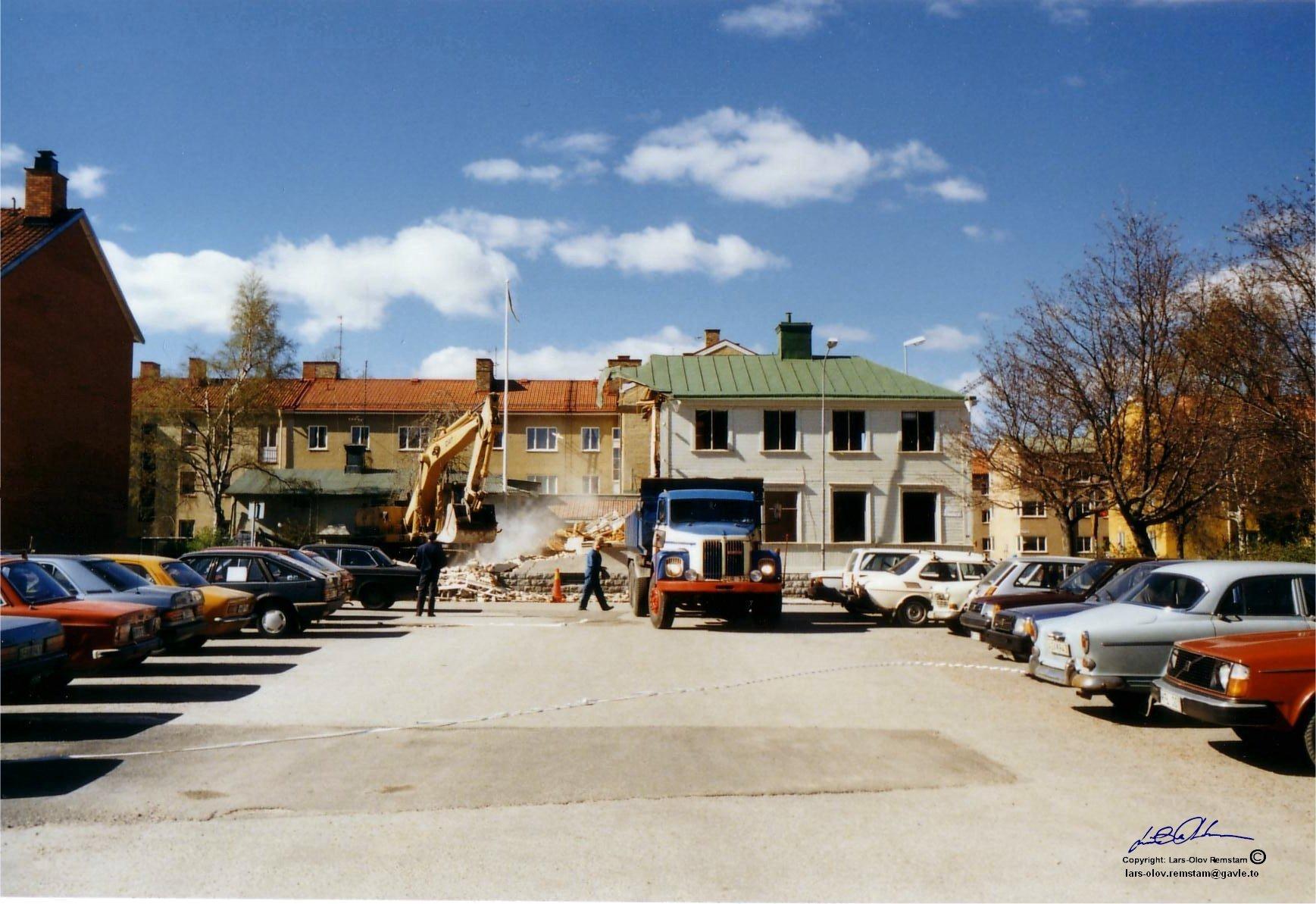 Rivning av befintlig fastighet S Skeppargatan - Brunnsgatan