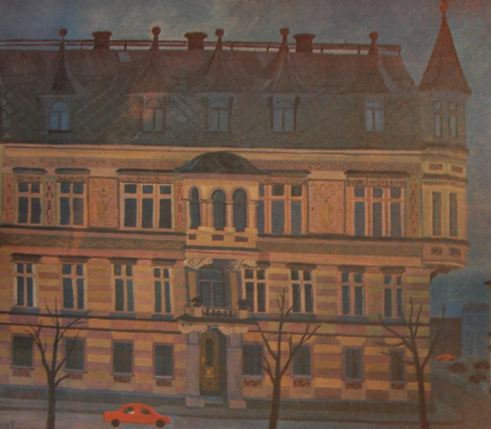 Mona Söderbergs Akvarell av Nygatan 3