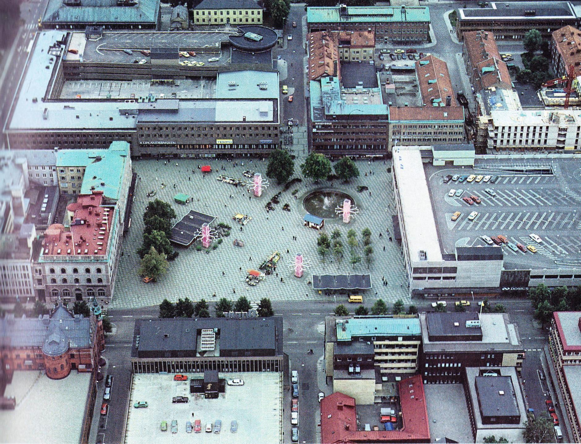 """Det """"gamla"""" Stortorget i Gävle från 1982."""