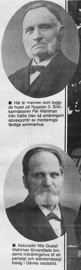 Snickare Per och Assurador Nils Gustaf Wahlman