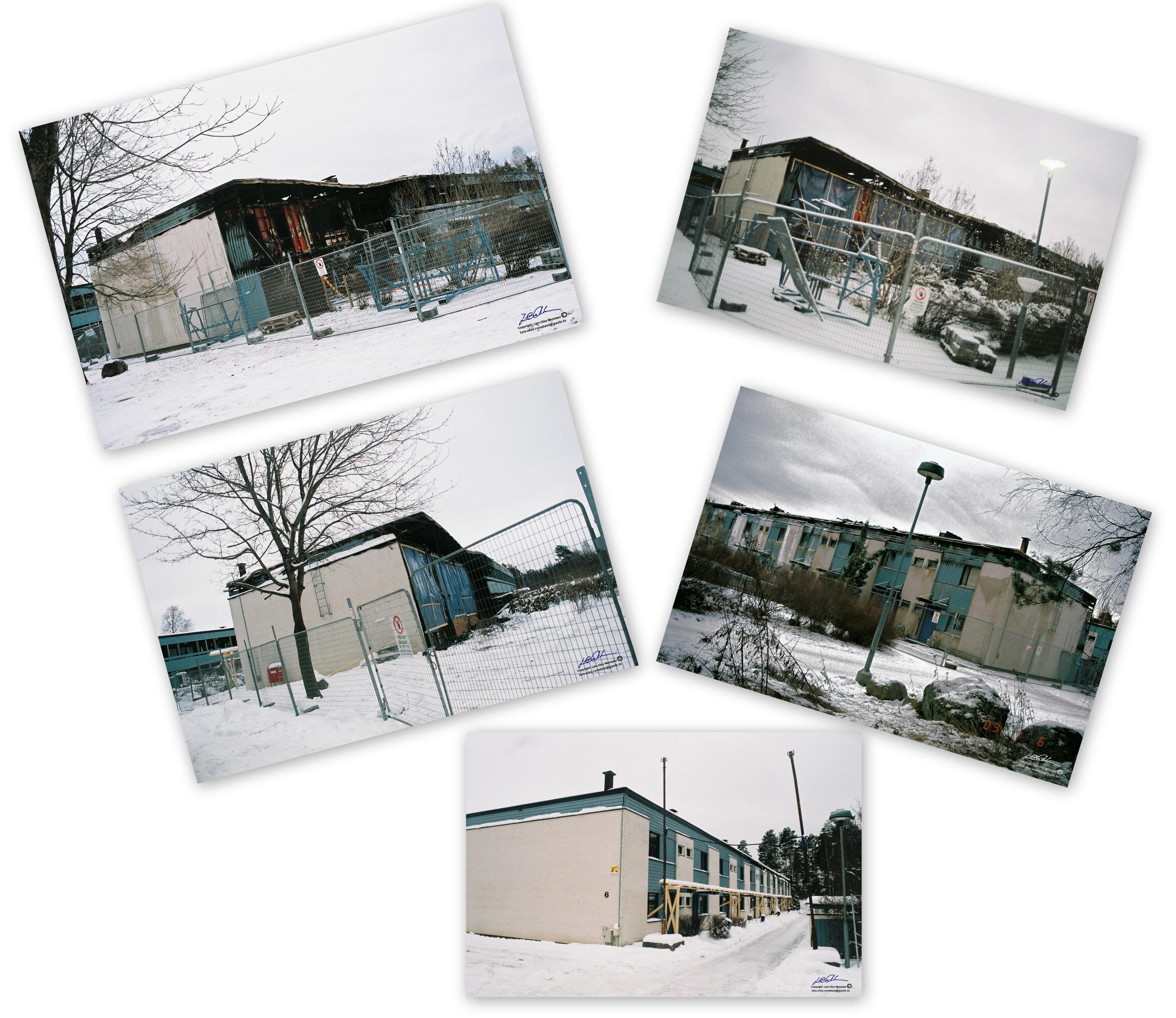 Brand på Blåbärsvägen mellan 1/1 – 2/1 2009