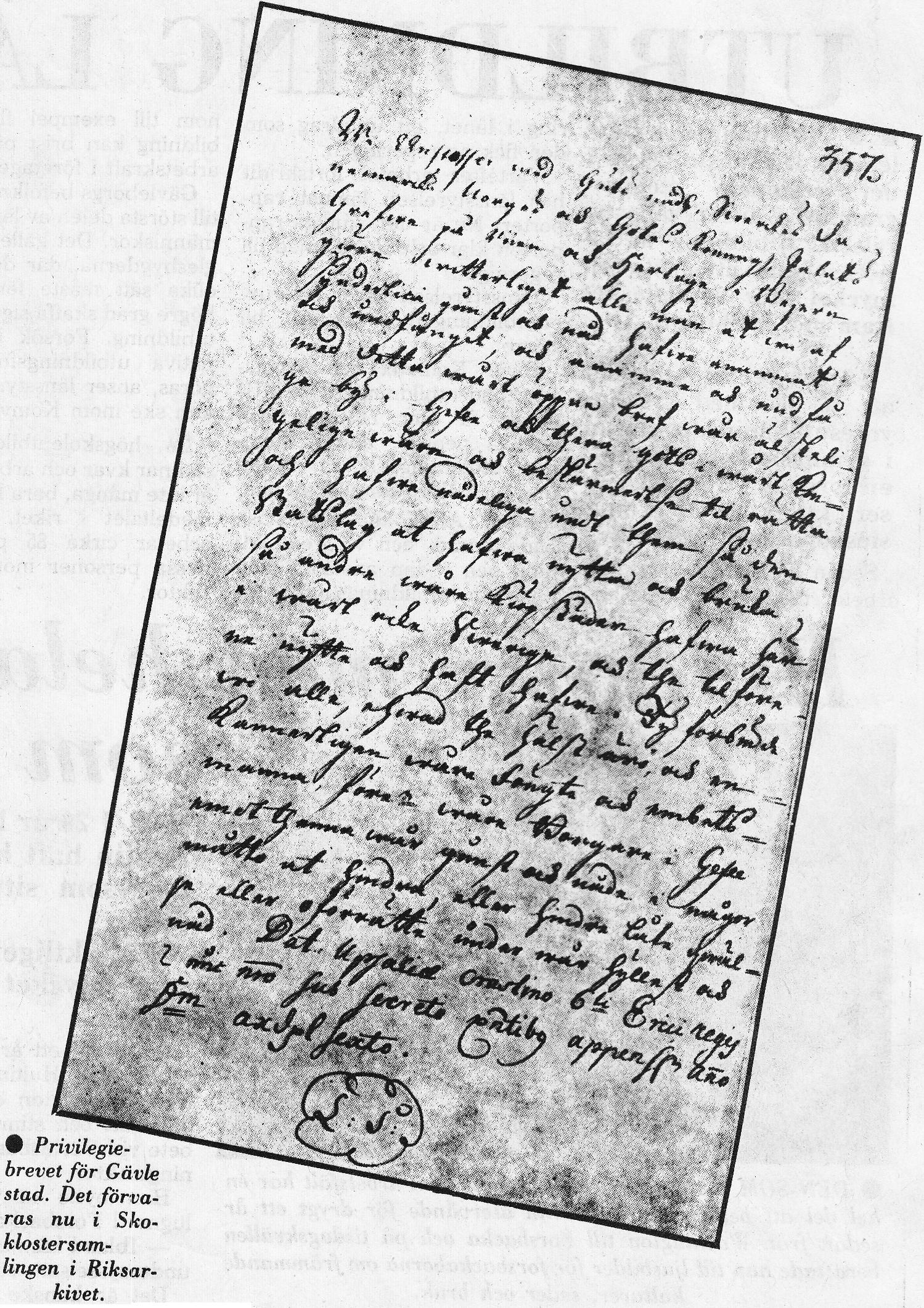 Privilegiebrevet 1446