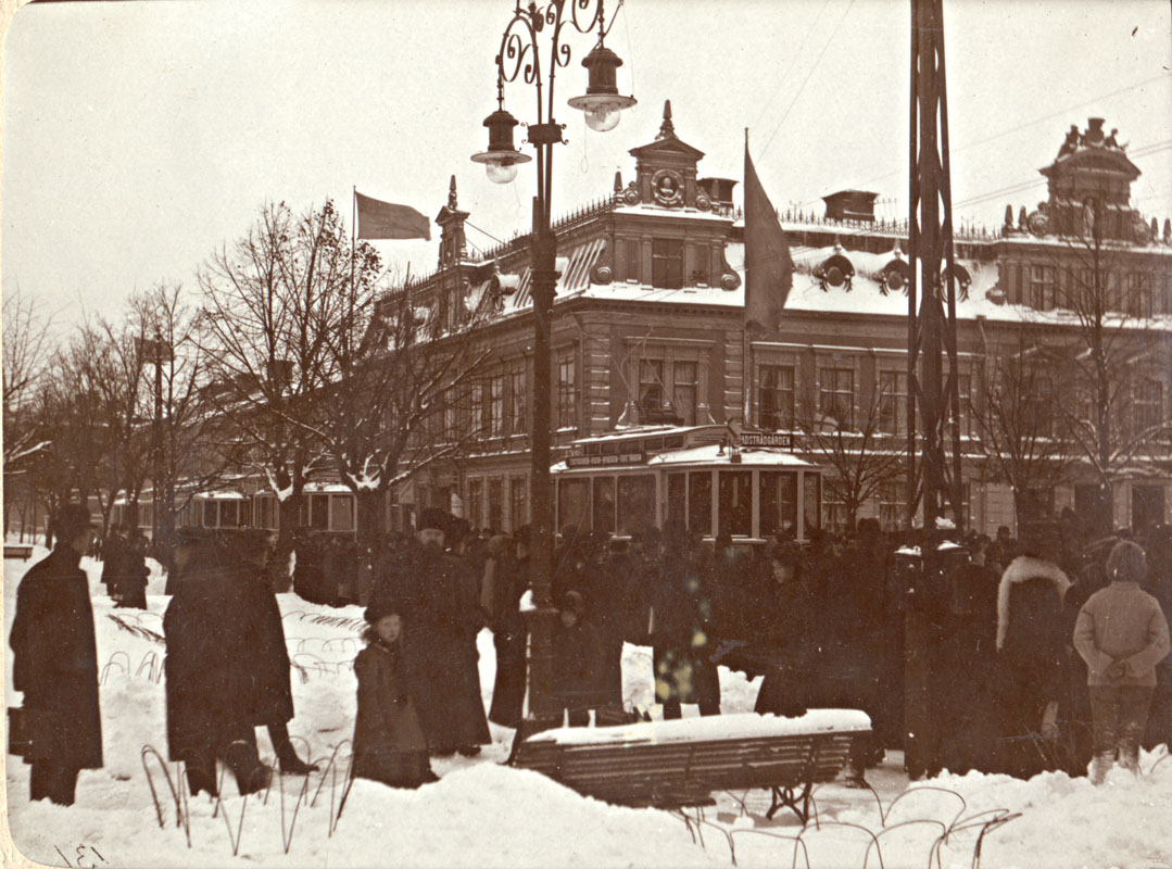 Spårvagnsinvigningen 13 november 1909 på Esplanden